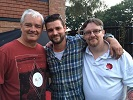 Gary, Will and Stuart Bramwell. Enjoying probably the last BBQ of Summer 2016. Posted by Gary Bramwell.