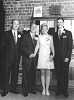 The Wedding of Joshua Lister Bramwell and Maureen Messam, Friday 14th November 1969, Australia. L to R; Ron Bramwell, Joshua Bramwell, Maureen Messam, Ron Turner. Supplied by Maureen Bramwell.